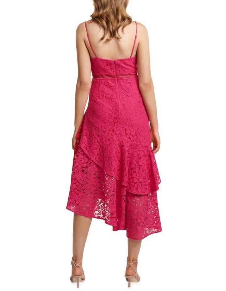 August Lace Ruffle Midi Dress image 3