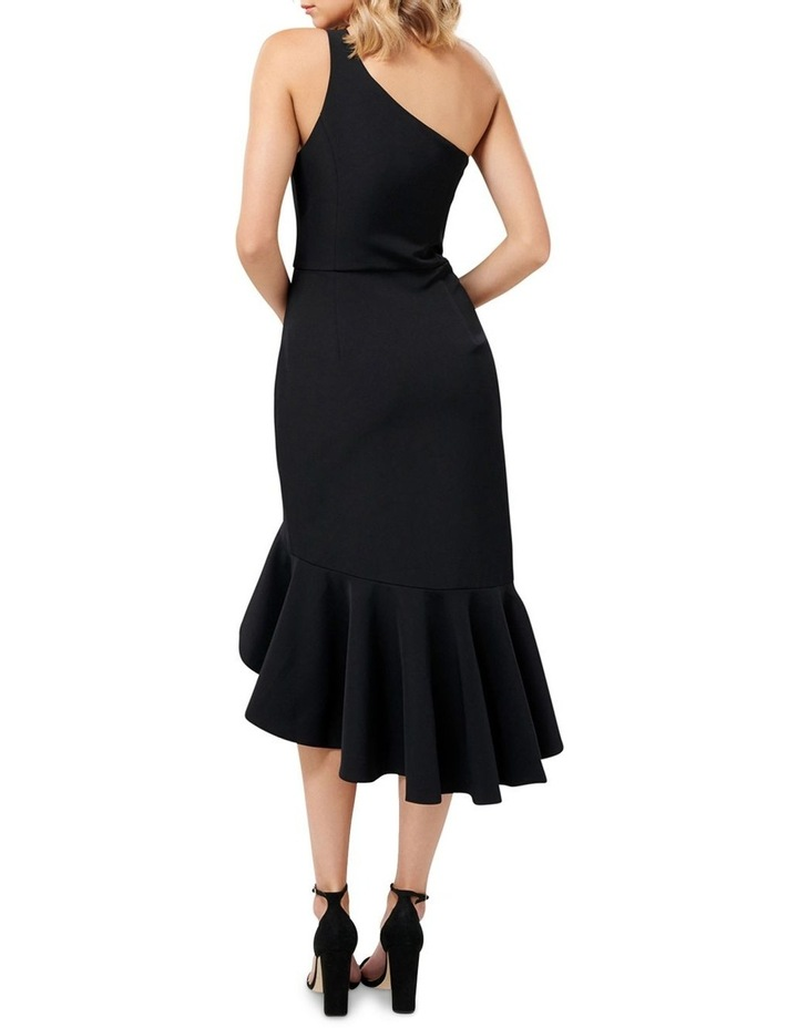 Slate One Shoulder Asymmetric Frill Midi Dress image 2