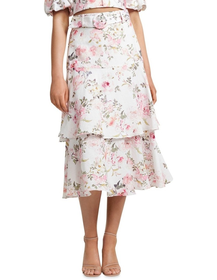 Pippa Linen Tiered Skirt image 1