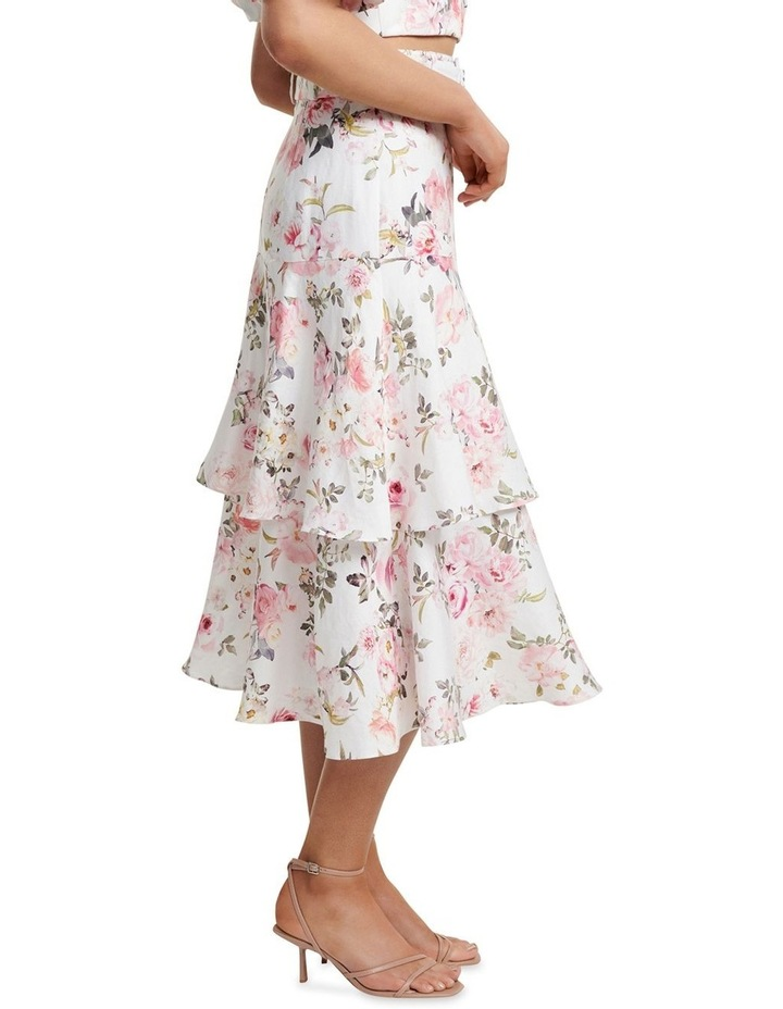 Pippa Linen Tiered Skirt image 2