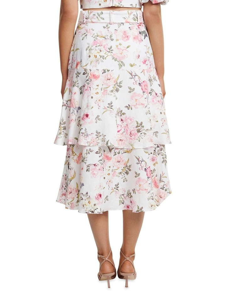 Pippa Linen Tiered Skirt image 3