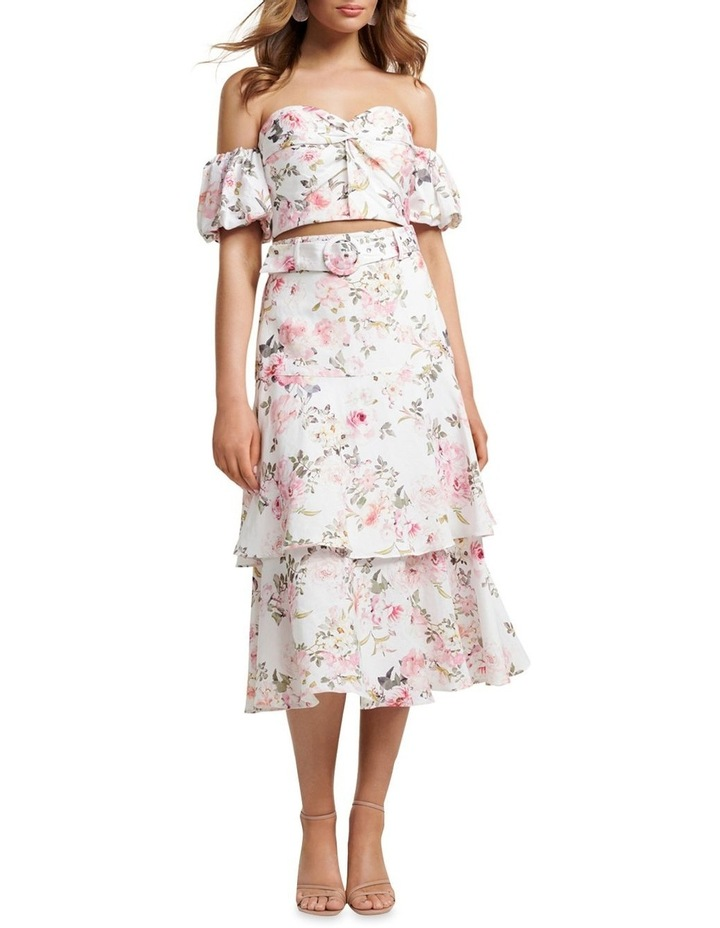 Pippa Linen Tiered Skirt image 4