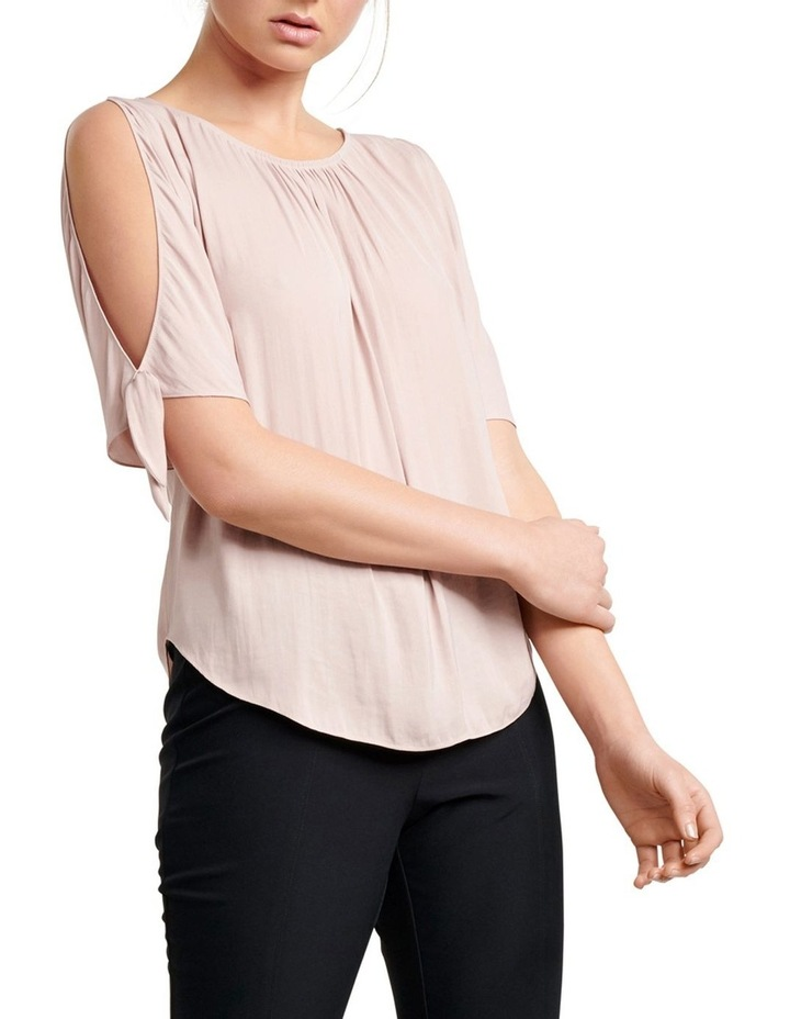 Simona Cold Shoulder Tie Sleeve Blouse image 1