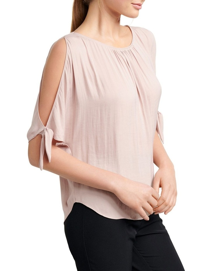 Simona Cold Shoulder Tie Sleeve Blouse image 2