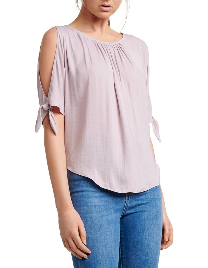 Simona Cold Shoulder Tie Sleeve Blouse image 1