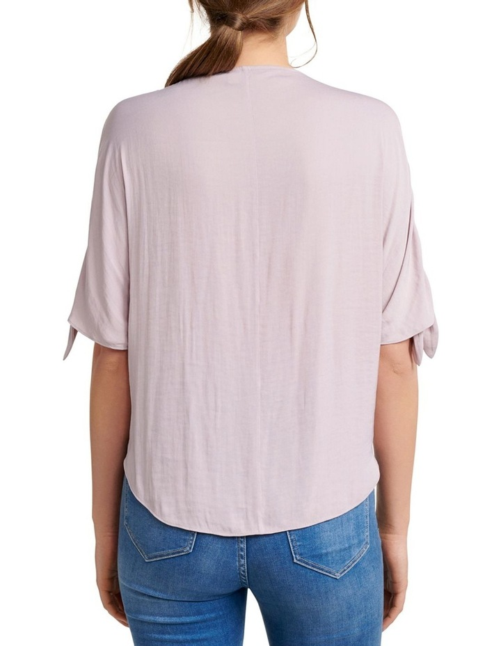 Simona Cold Shoulder Tie Sleeve Blouse image 3