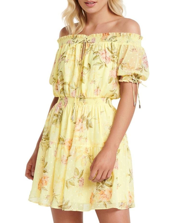 Aspyn Shirred Bardot Dress image 1
