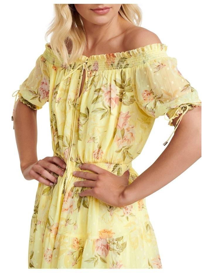 Aspyn Shirred Bardot Dress image 2