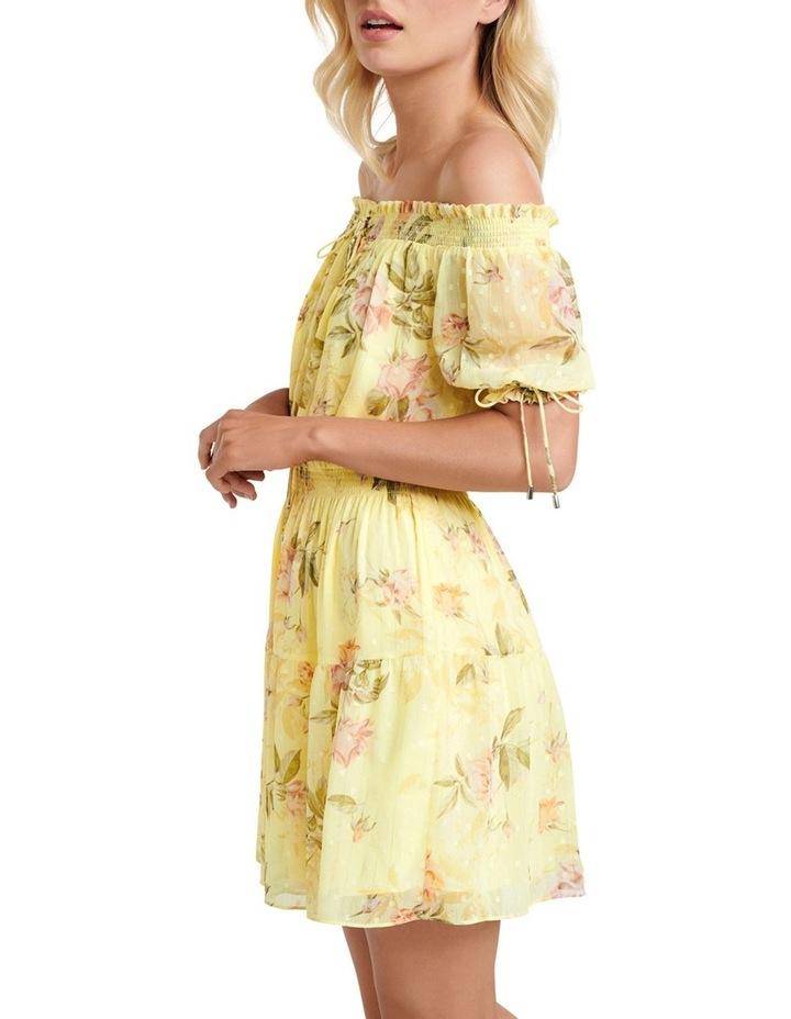 Aspyn Shirred Bardot Dress image 3