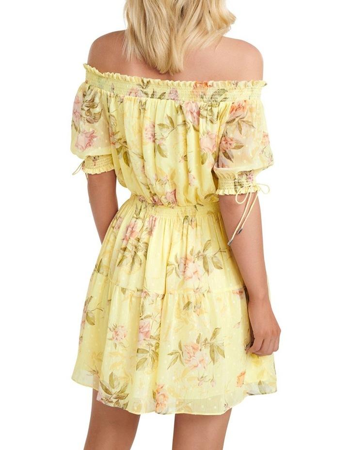 Aspyn Shirred Bardot Dress image 4
