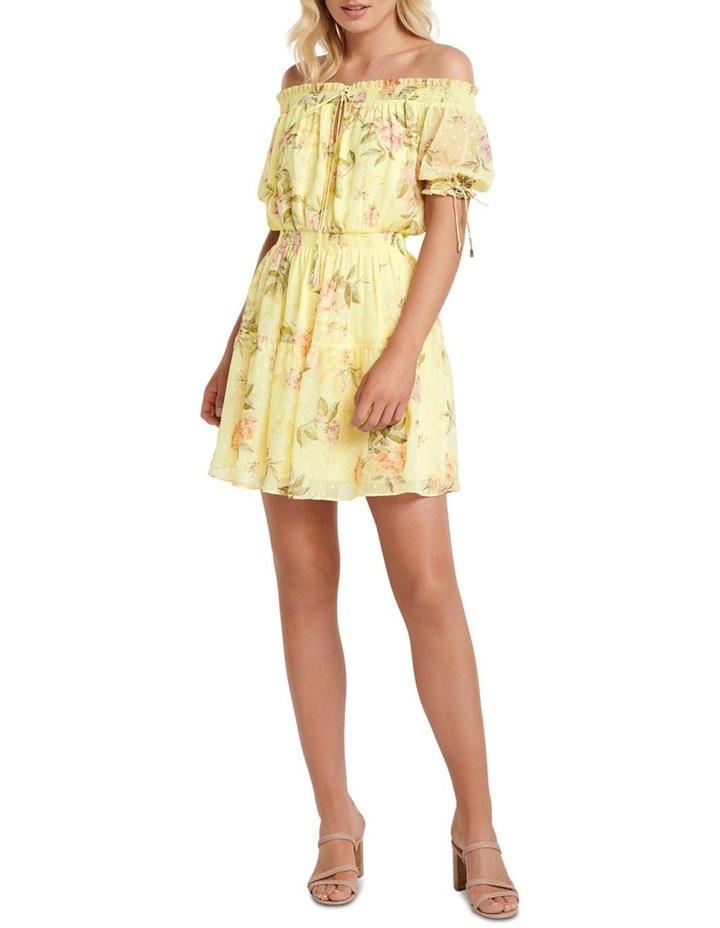 Aspyn Shirred Bardot Dress image 5