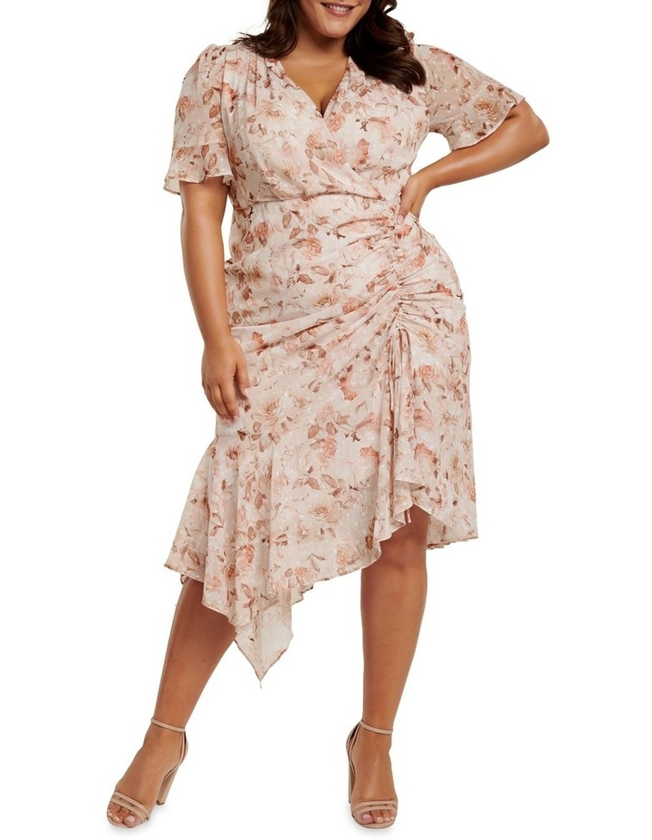 Ellie Ruched Curve Wrap Dress image 1