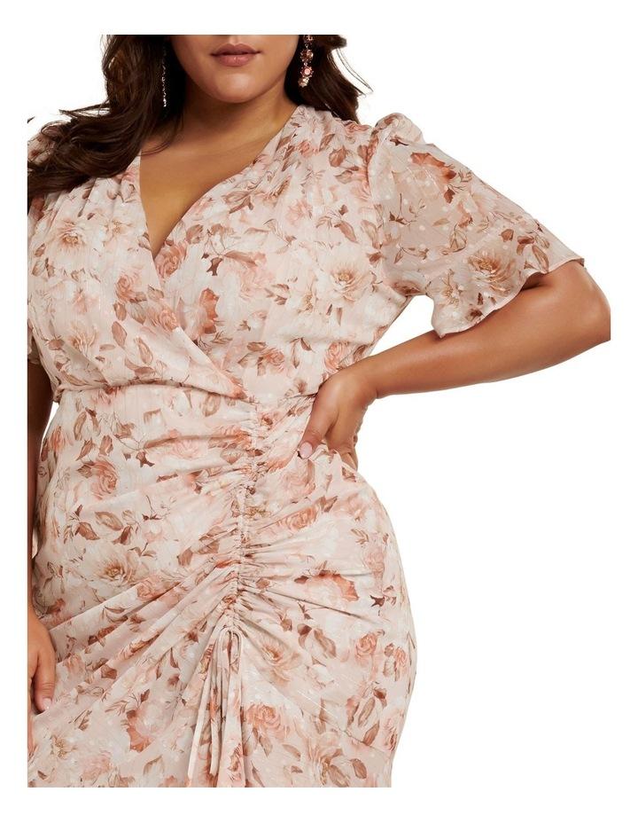 Ellie Ruched Curve Wrap Dress image 2