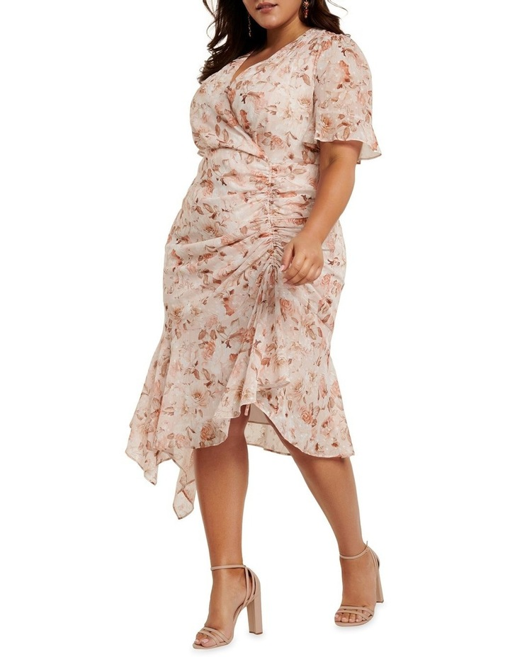 Ellie Ruched Curve Wrap Dress image 3