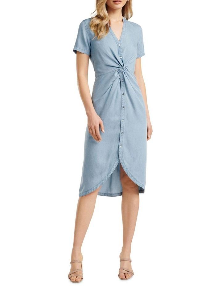 Michaela Twist Front Denim Dress image 1