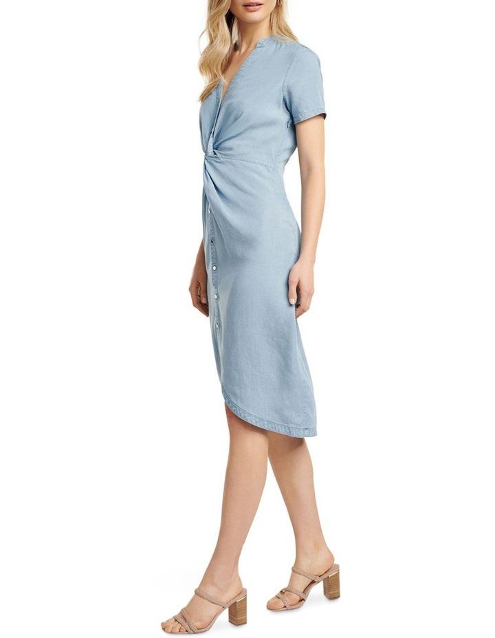 Michaela Twist Front Denim Dress image 3