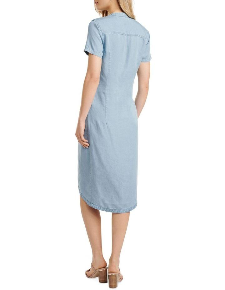 Michaela Twist Front Denim Dress image 4