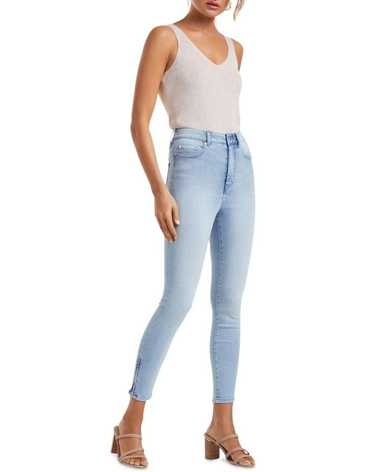 Bella High Rise Sculpting Crop Jeans image 4