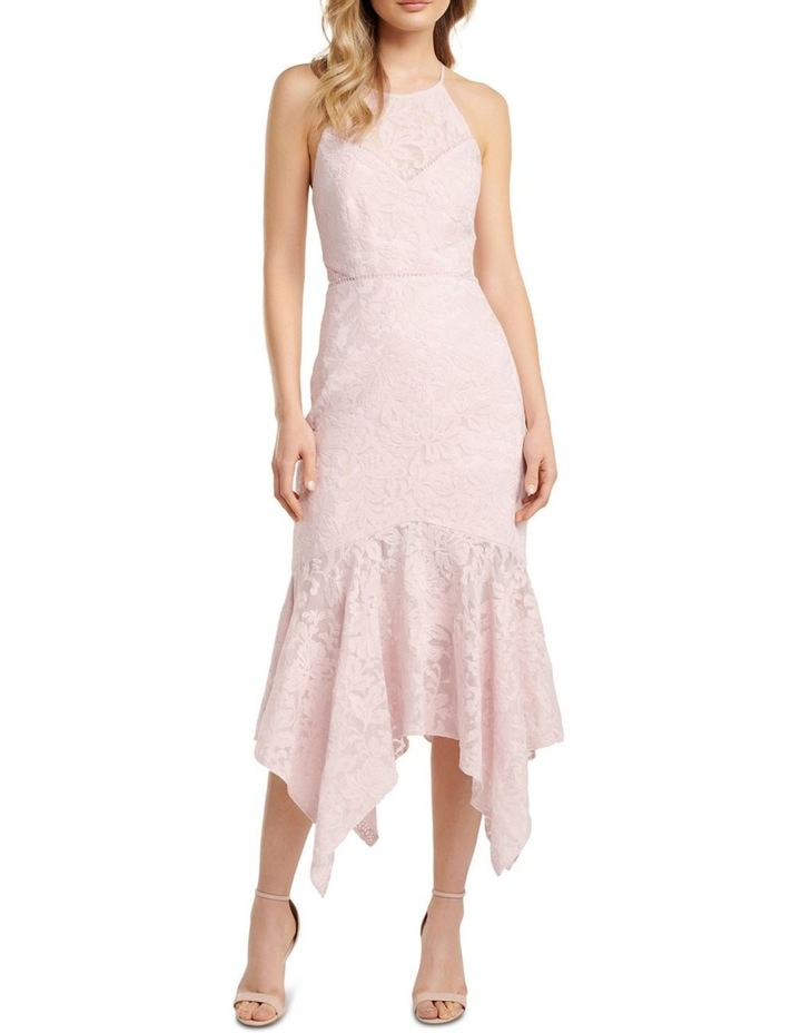 Shakira Hanky Hem Lace Midi Dress image 1