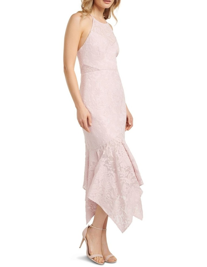 Shakira Hanky Hem Lace Midi Dress image 3