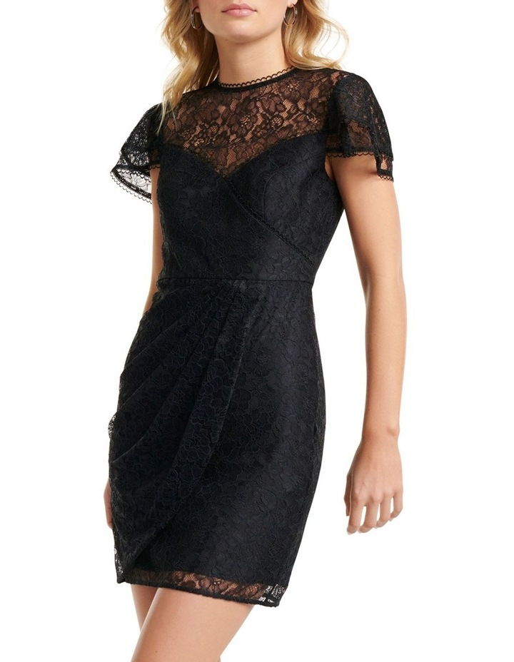 Deena Lace Drape Mini Dress image 1