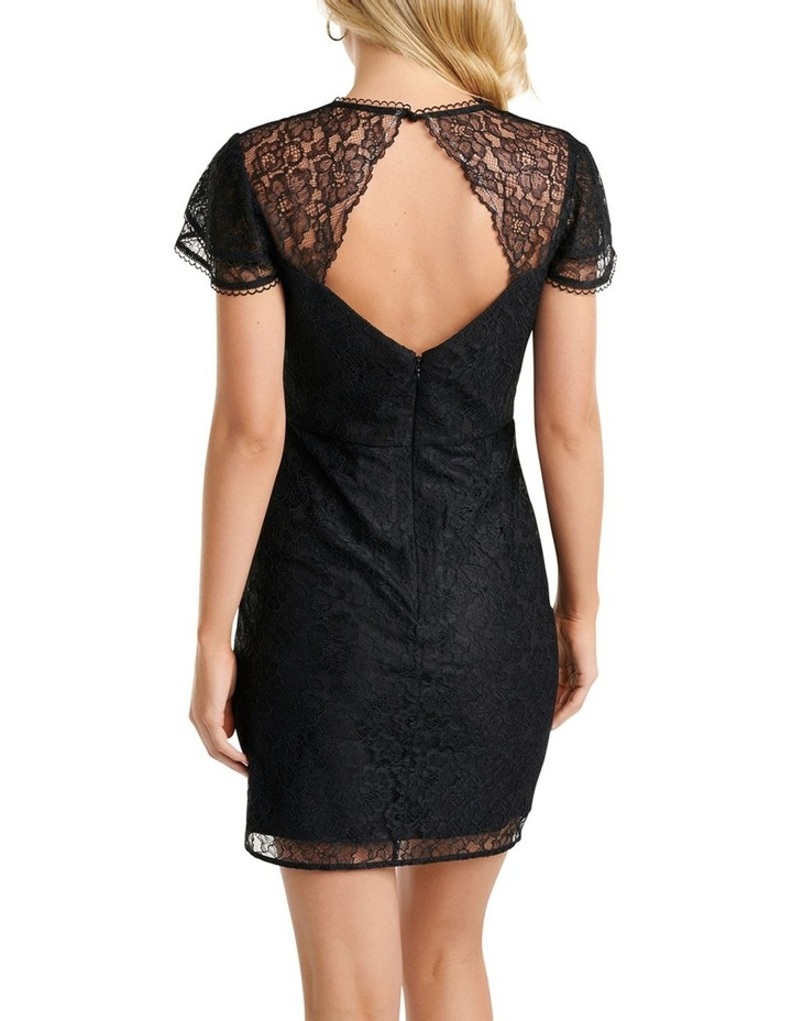 Deena Lace Drape Mini Dress image 4