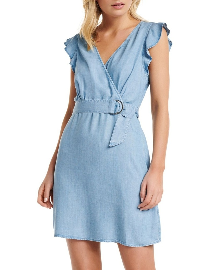 Olivia Frill Wrap Denim Dress image 1