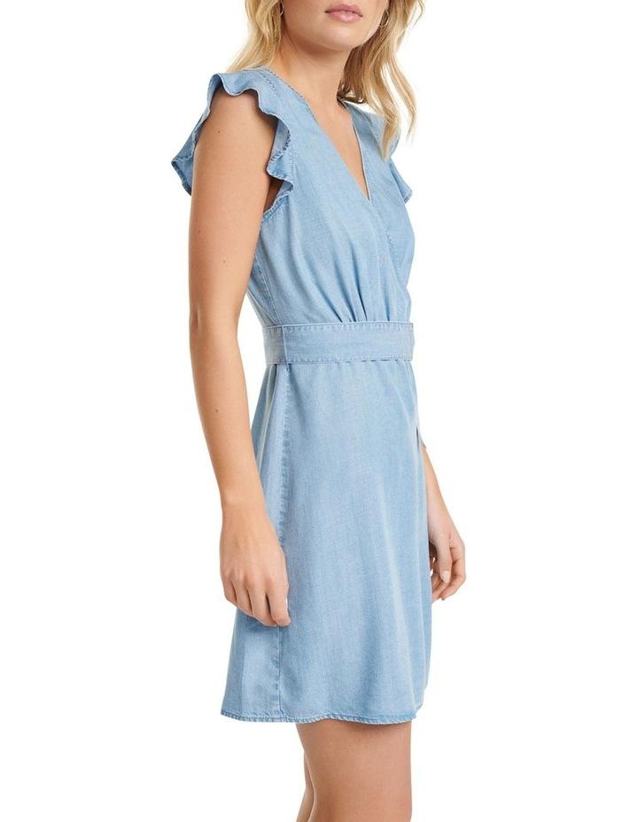 Olivia Frill Wrap Denim Dress image 2