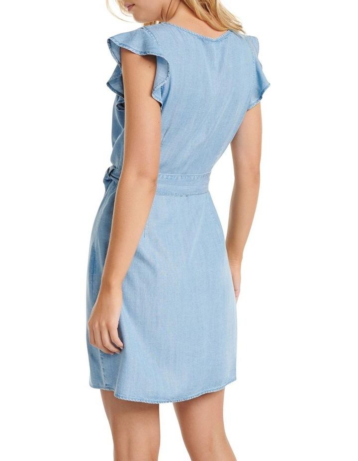Olivia Frill Wrap Denim Dress image 3