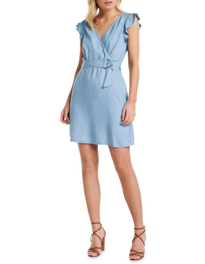 Olivia Frill Wrap Denim Dress image 4