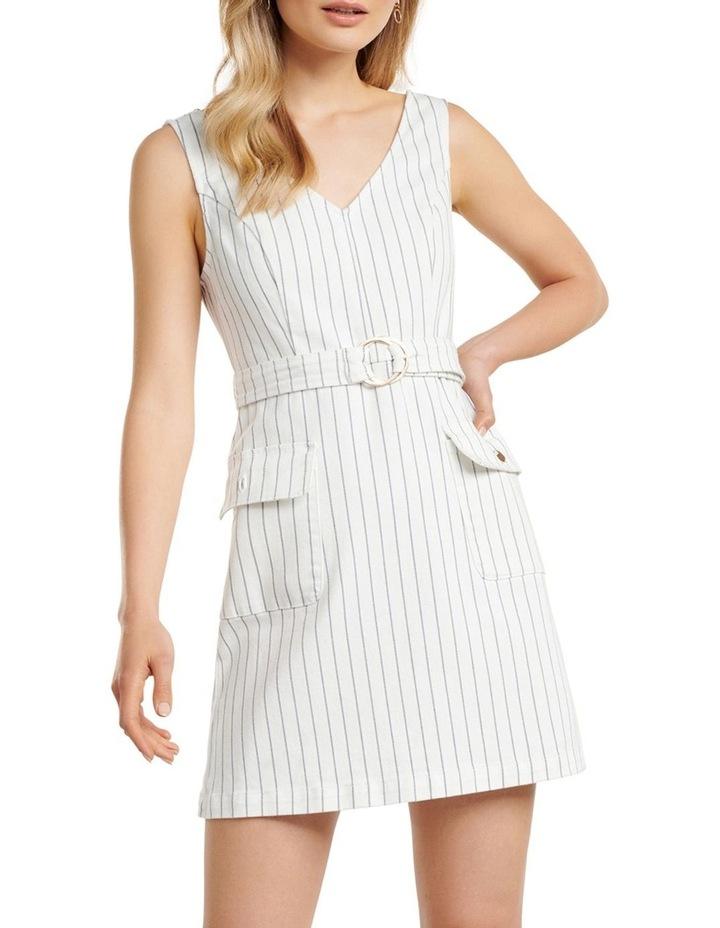 Sammy Stripe Denim Mini Dress image 1