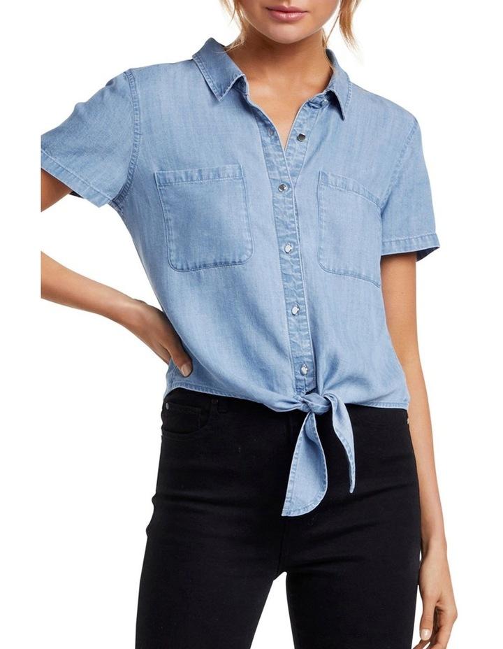 Ella Tie Up Denim Shirt image 1