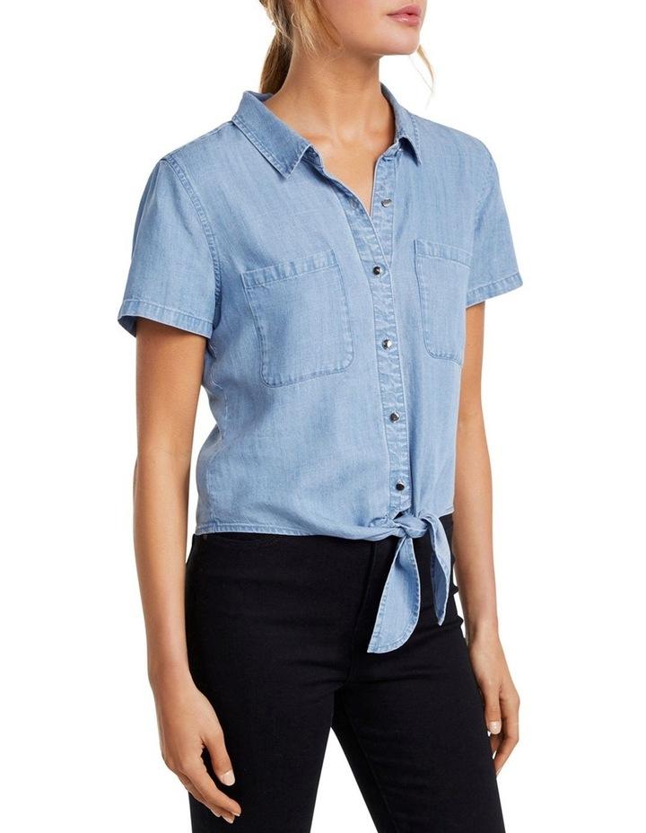 Ella Tie Up Denim Shirt image 2