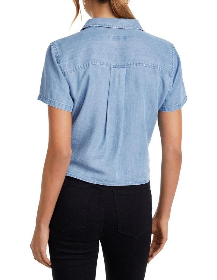 Ella Tie Up Denim Shirt image 3