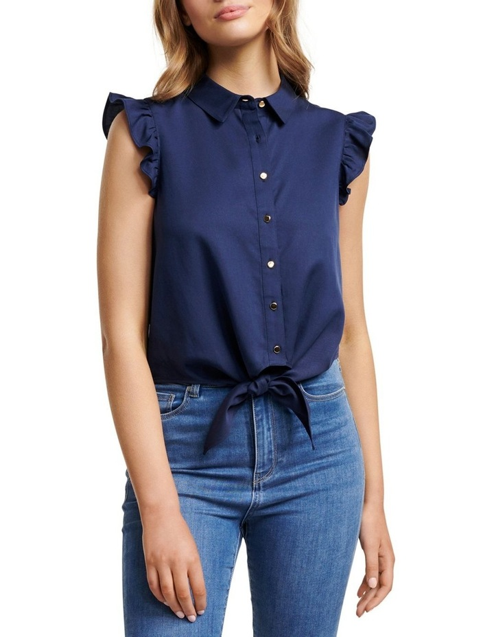 Zoe Frill Sleeve Tie Front Shirt image 1