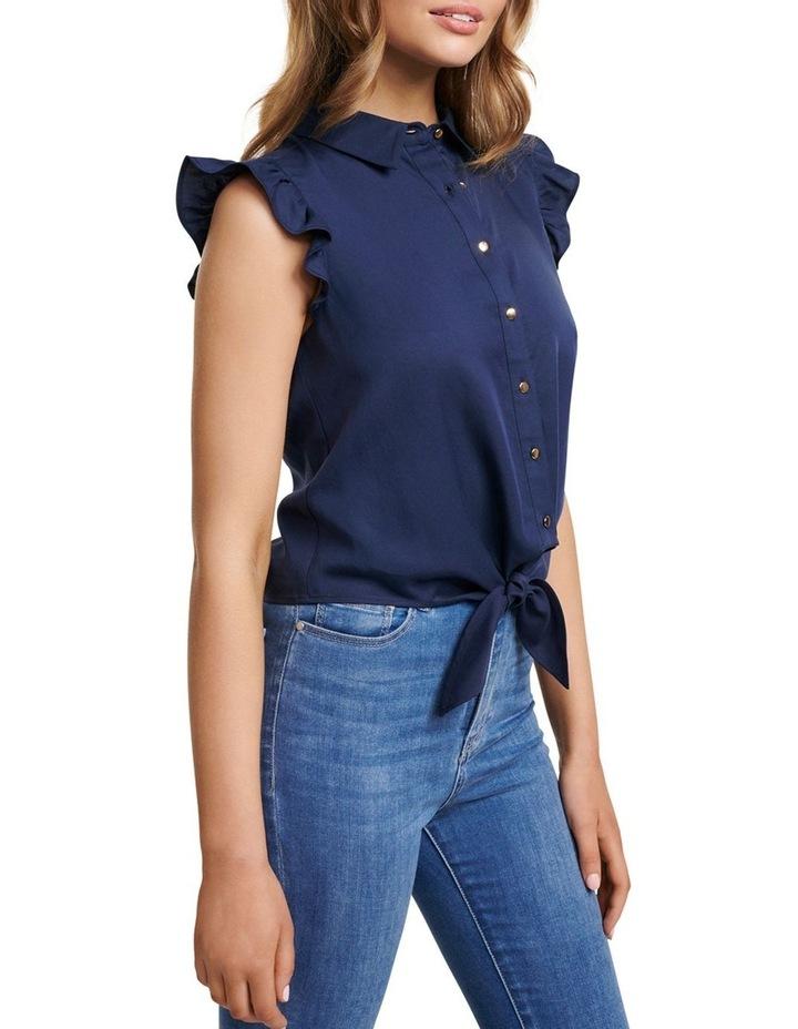 Zoe Frill Sleeve Tie Front Shirt image 2