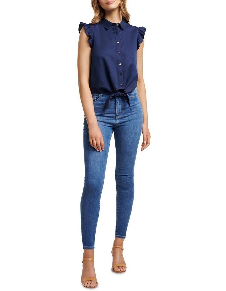 Zoe Frill Sleeve Tie Front Shirt image 4