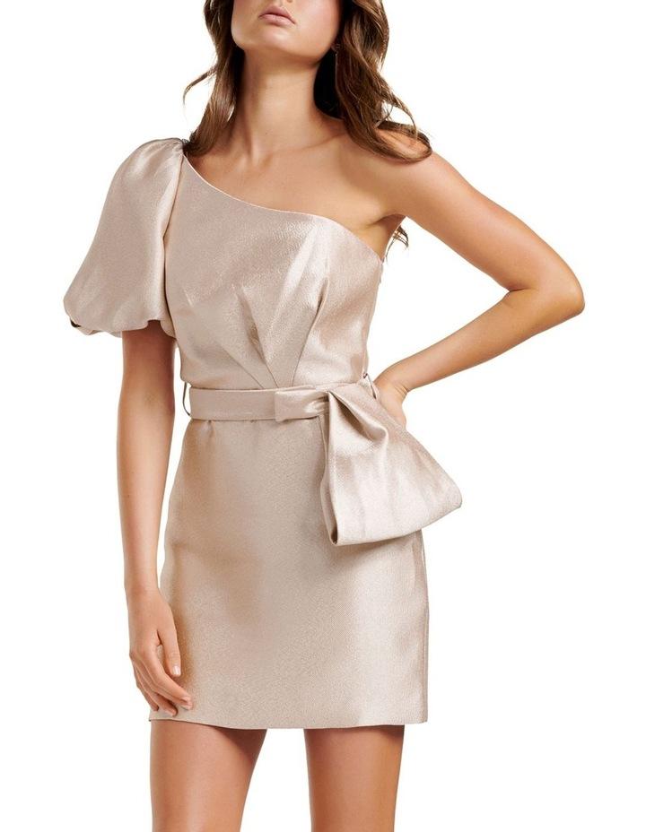 Maple One Shoulder Bow Mini Dress image 1