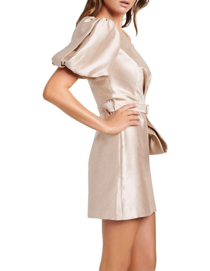 Maple One Shoulder Bow Mini Dress image 3