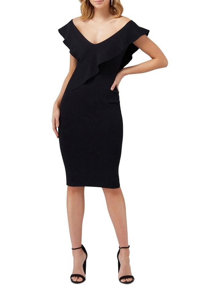 Sharna Frill Bardot Knit Dress image 1
