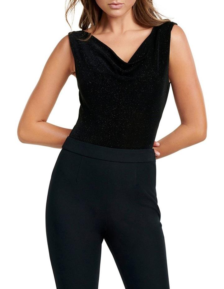 Sage Cowl Front and Back Bodysuit image 1