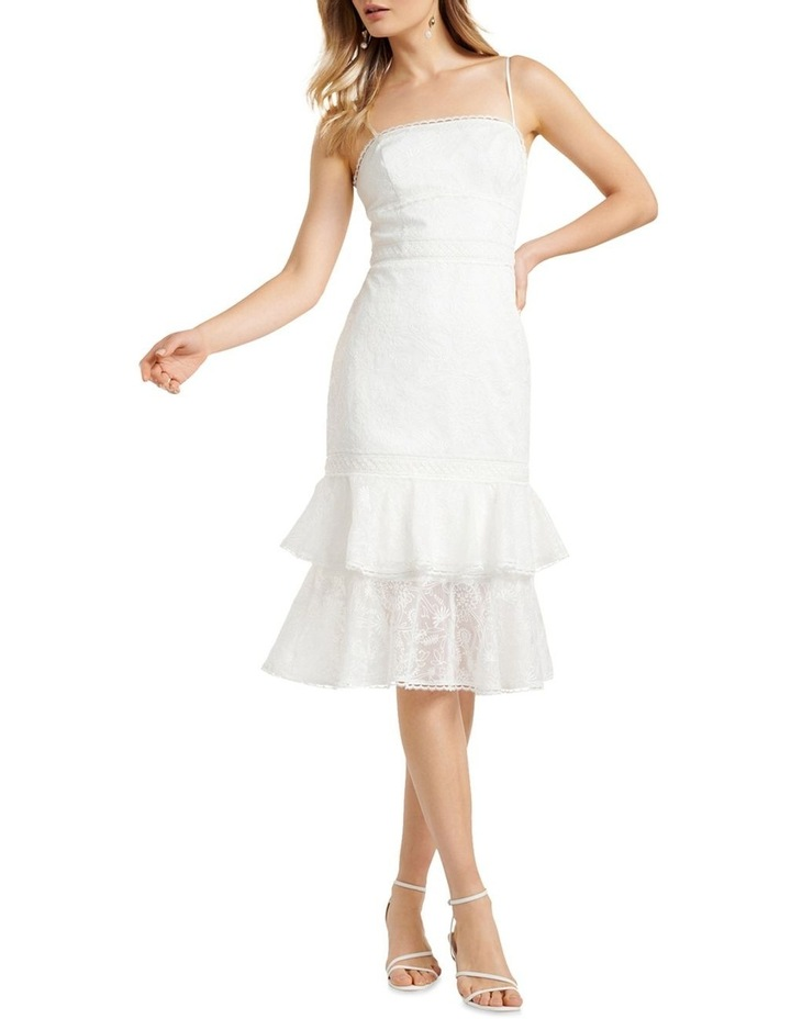 Alette Tiered Lace Midi Dress image 1