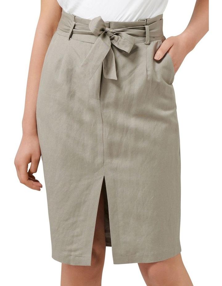 Eden Linen Blend Pencil Skirt image 1