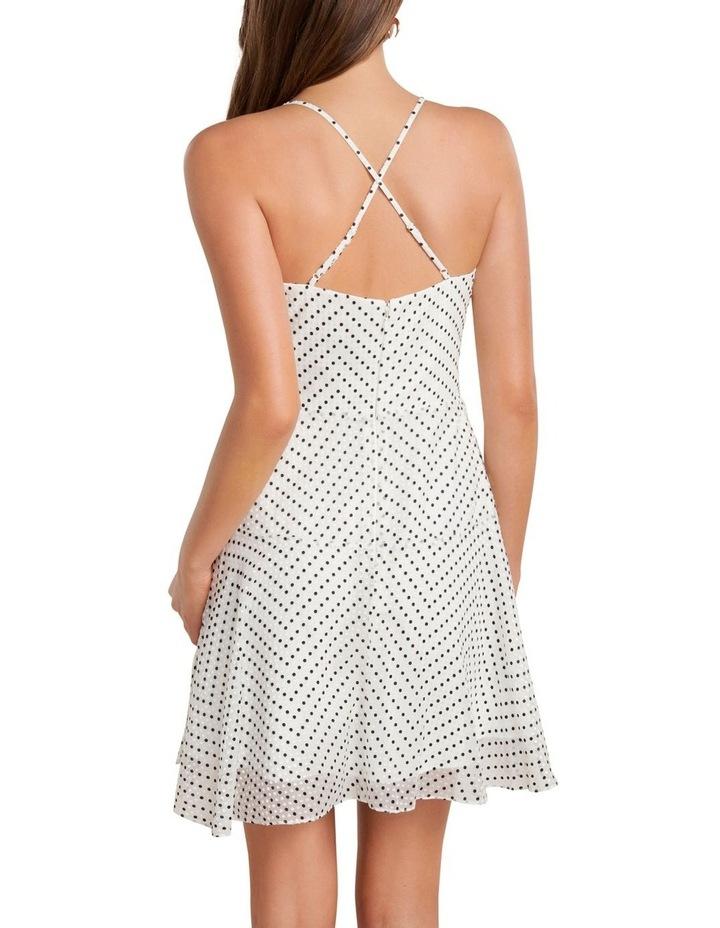 Ronnie Spot Wrap Flip Mini Dress image 4