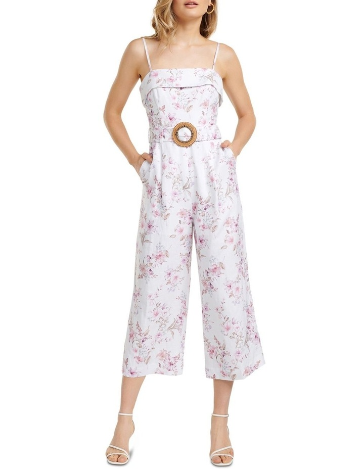 Roxanne Linen Strapless Jumpsuit image 1