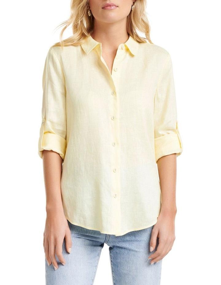 Viviana Long Sleeve Linen Shirt image 1