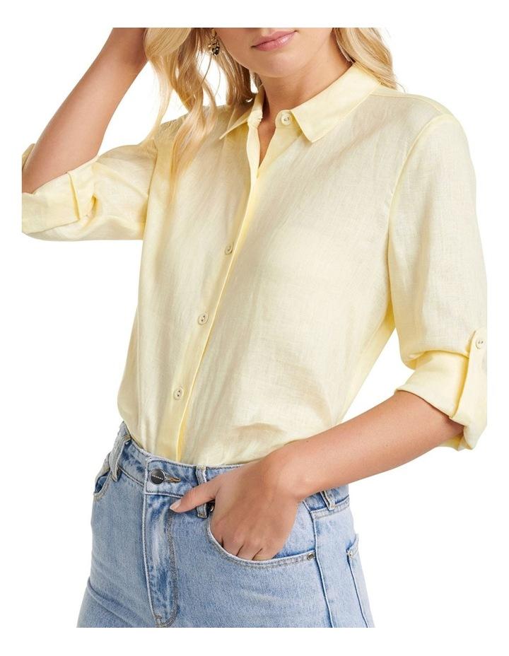 Viviana Long Sleeve Linen Shirt image 2