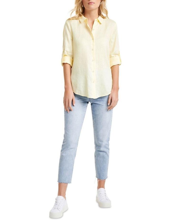 Viviana Long Sleeve Linen Shirt image 6