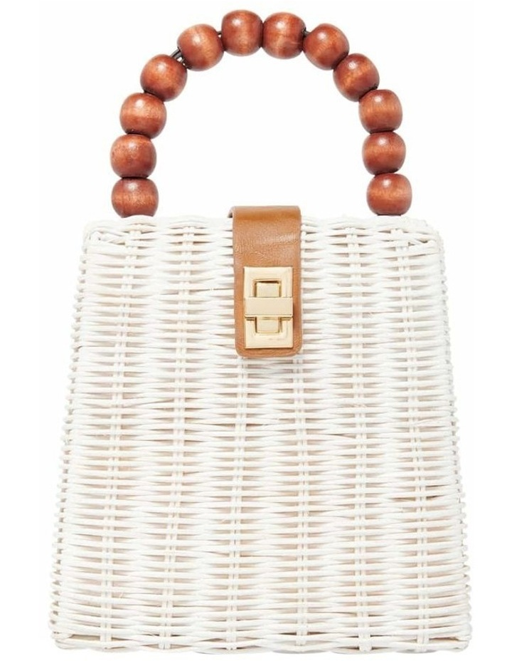 Giovanna Beaded Top Handle Straw Bag image 1