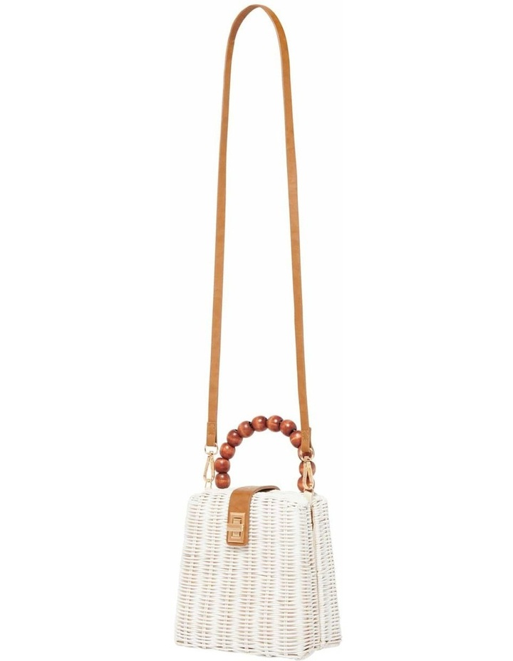 Giovanna Beaded Top Handle Straw Bag image 2